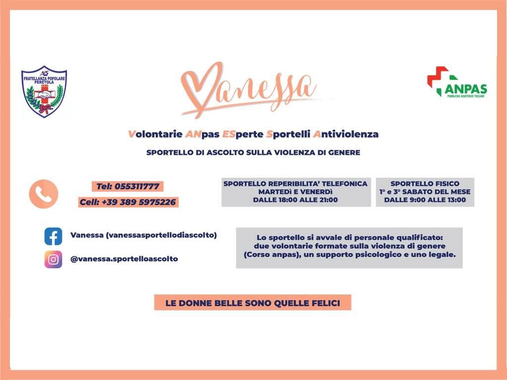 Vanessa - Volontarie ANpas ESperte Sportelli Antiviolenza - Fratellanza Popolare Peretola Firenze